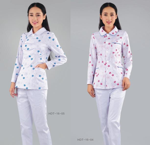 分体式套装 花型面料 温馨舒适 护士服