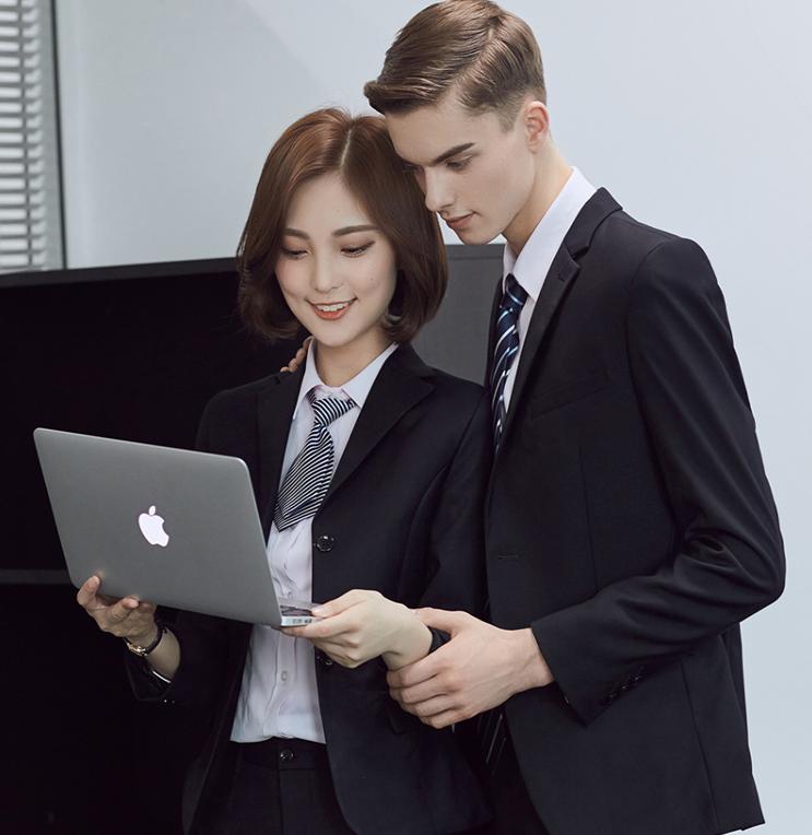 2018春季西装套装男女职业套装女面试正装房地产销售工作服套裙