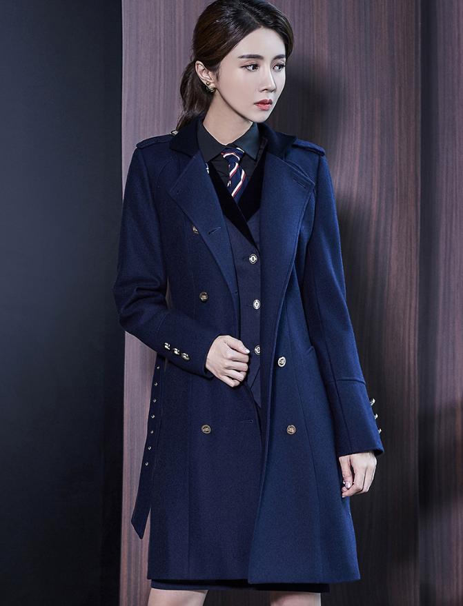 2018冬季女大衣 羊毛呢子料