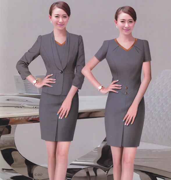 房地产物业公司前台 客服 行政外套连衣裙