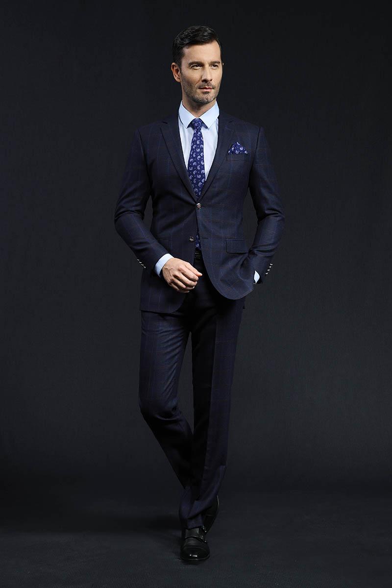 男士商务休闲西装球彩直播app苹果下载修身男装西服上衣西裤量体定做